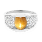 Tanzanian Star Sunstone Silver Ring