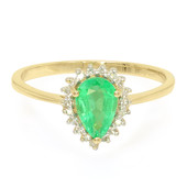 18K Ethiopian Emerald Gold Ring