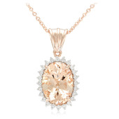 18K AAA Peach Morganite Gold Necklace
