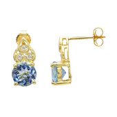 18K Santa Maria Aquamarine Gold Earrings