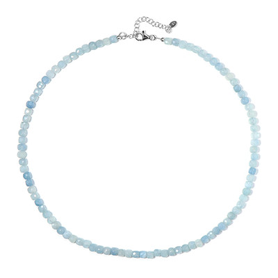 Aquamarine Silver Necklace