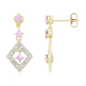 10K Unheated Ceylon Purple Sapphire Gold Earrings (Molloy)