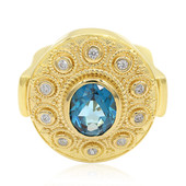 London Blue Topaz Silver Ring (Memories by Vincent)