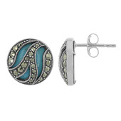 Turquoise Silver Earrings (M de Luca)