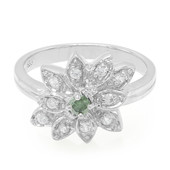Forest Green Diamond Silver Ring (Molloy)