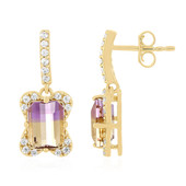9K Anahi Ametrine Gold Earrings