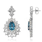 London Blue Topaz Silver Earrings (Dallas Prince Designs)