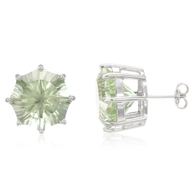 Rio Grande Green Amethyst Silver Earrings