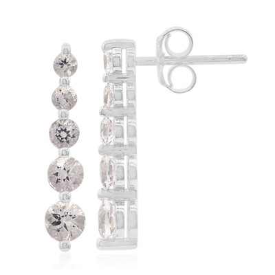 Morganite Silver Earrings