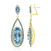 14K London Blue Topaz Gold Earrings (AMAYANI)