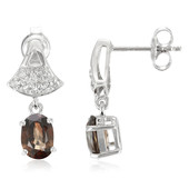 Cinnamon Zircon Silver Earrings