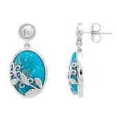 Kingman Blue Mojave Turquoise Silver Earrings