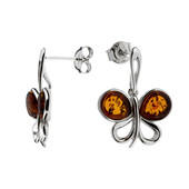 Baltic Amber Silver Earrings