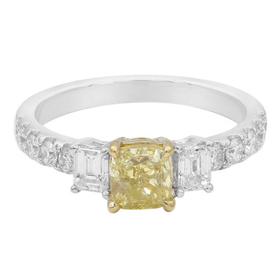 18K Yellow Diamond Gold Ring