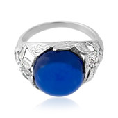 Colombian blue Amber Silver Ring