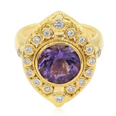 Zambian Amethyst Silver Ring (Memories by Vincent)
