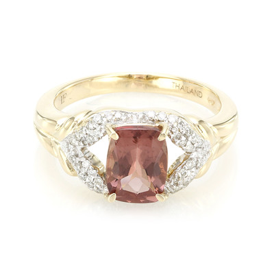 14K Red Apatite Gold Ring (Lance Fischer)