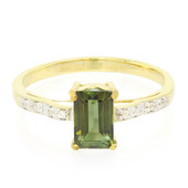 Green Tourmaline Silver Ring (Cavill)