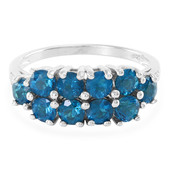 Royal Blue Apatite Silver Ring