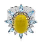 Yellow Agate Silver Ring (Dallas Prince Designs)