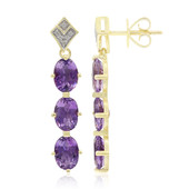 9K Moroccan Amethyst Gold Earrings