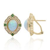 14K AAA Welo Opal Gold Earrings