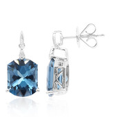 14K London Blue Topaz Gold Earrings (CIRARI)