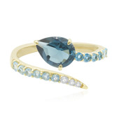 9K London Blue Topaz Gold Ring