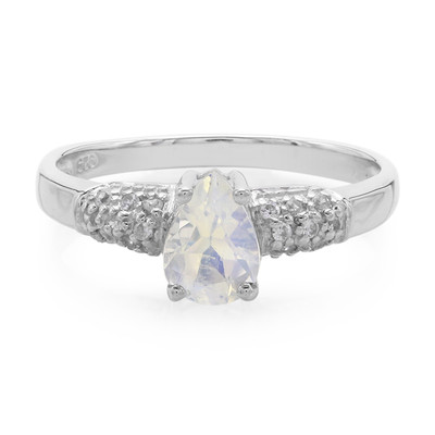 Rainbow Moonstone Silver Ring (Molloy)