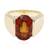 14K Hessonite Garnet Gold Ring (de Melo)