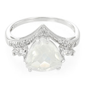 Ice Moon Quartz Silver Ring