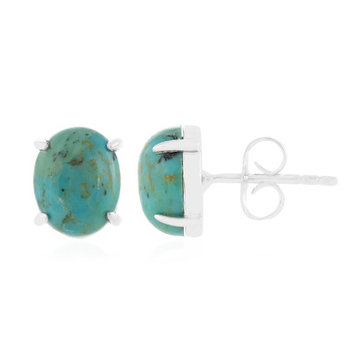 Kingman Turquoise Silver Earrings