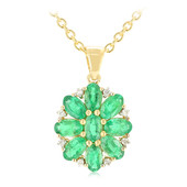 18K AAA Zambian Emerald Gold Necklace
