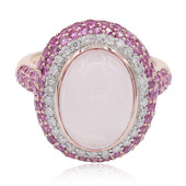 9K Rose Quartz Gold Ring