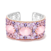 Rose Quartz Silver Bangle (Dallas Prince Designs)