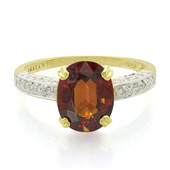 18K Mandarin Garnet Gold Ring
