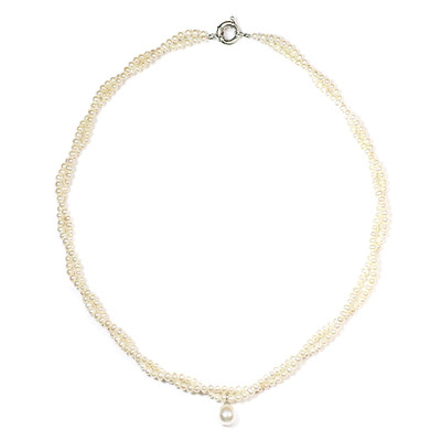 Freshwater pearl Silver Necklace (M de Luca)