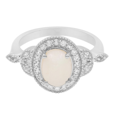 White Opal Silver Ring (Cavill)