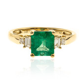 14K Colombian Emerald Gold Ring (CIRARI)