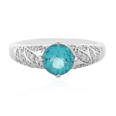Caribbean Blue Apatite Silver Ring