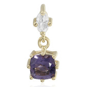 9K Blueberry Quartz Gold Pendant