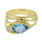 Swiss Blue Topaz Silver Ring