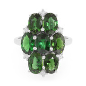 Imperial Chrome Tourmaline Silver Ring