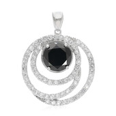 Black Spinel Silver Pendant