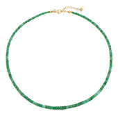 Zambian Emerald Silver Necklace
