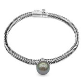 Tahitian Pearl Silver Bracelet (Nan Collection)