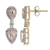 9K Morganite Gold Earrings