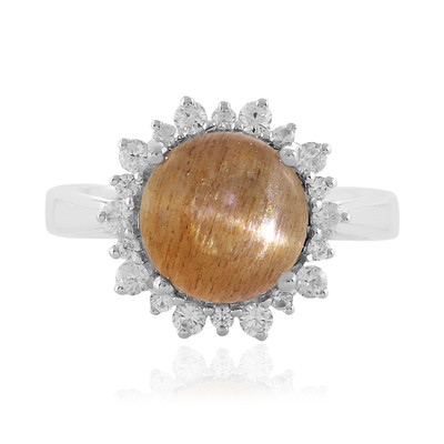 Cat´s Eye Sunstone Silver Ring