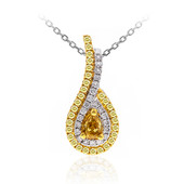 18K SI Orange Diamond Gold Necklace (CIRARI)