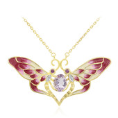 Rose de France Amethyst Silver Necklace